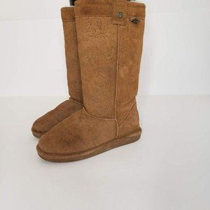 Bearpaw Tall Suede Fur Lined Boots